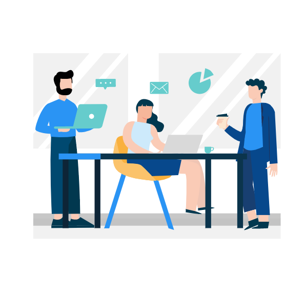 Team meeting to create create content